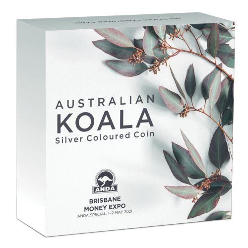 Thumbnail for 2021 Australian Koala 1oz Coloured Silver Coin - Brisbane Money Expo ANDA Special