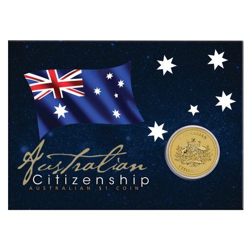 Thumbnail for 2021 Australian citizenship $1 Coin In Card