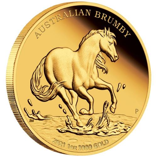 Thumbnail for 2021 Australian Brumby 1oz Gold Proof Coin