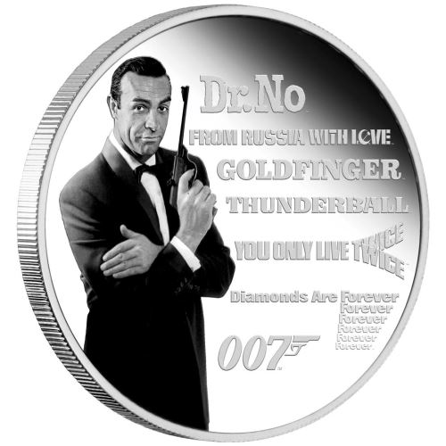 Thumbnail for 2021 James Bond Legacy Series – 1st Issue 1oz Silver Proof Coloured Coin