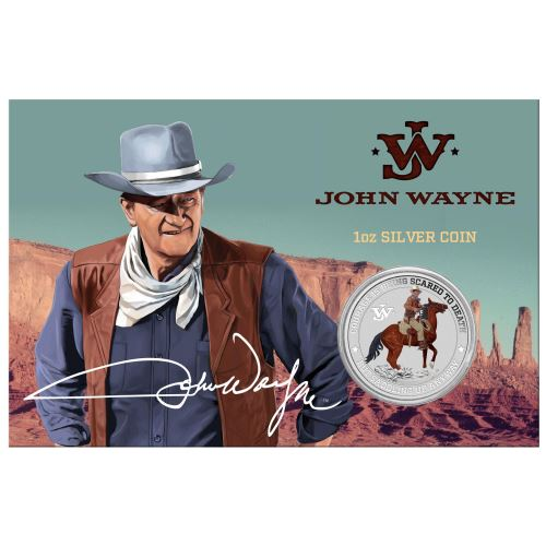 Thumbnail for 2021 John Wayne 1oz Coloured Silver Coin