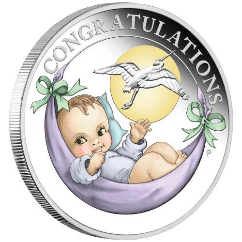 Thumbnail for 2021 Half oz silver Proof Coin Newborn Stork