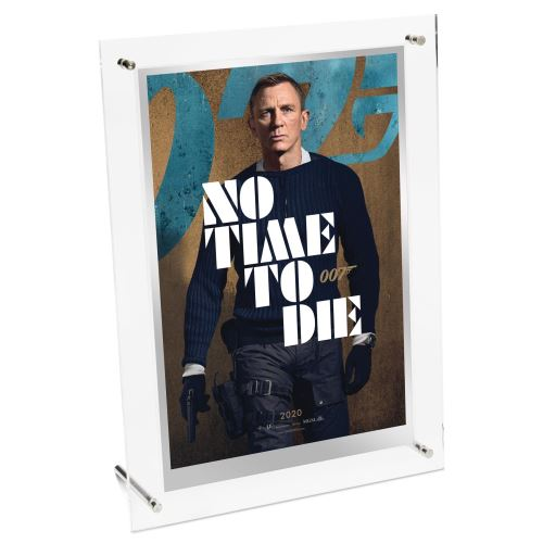 Thumbnail for 2021 James Bond No Time To Die Movie Poster 35g Silver Foil - Collector's Edition