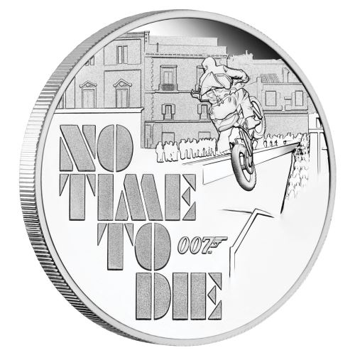 Thumbnail for 2020 James Bond No Time To Die 1oz Silver Proof Coin