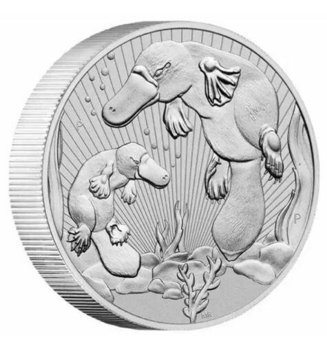 Thumbnail for 2021 Mother & Baby Platypus 2oz .9999 Silver Bullion Piedfort Coin