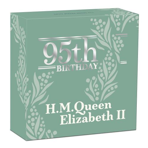 Thumbnail for 2021 Her Majesty Queen Elizabeth II 95th Birthday 1oz Silver Proof Coin