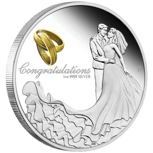Thumbnail for 2021 Wedding 1oz Silver Coin