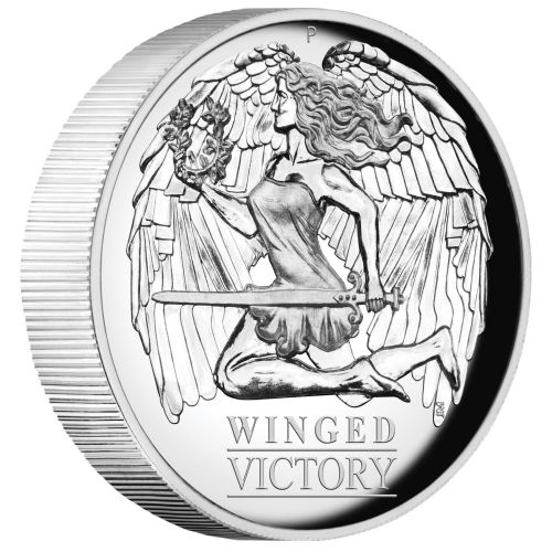 Thumbnail for 2021 Winged Victory 1oz Silver Proof High Relief Coin