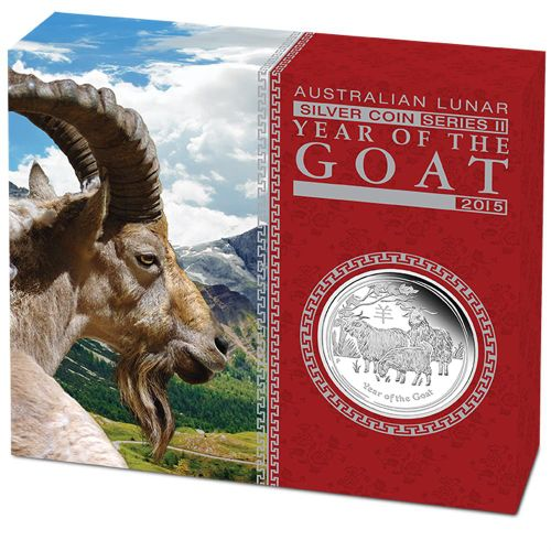 Thumbnail for 2015 Australian 1oz Year of the Goat Silver Proof