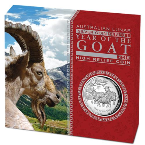 Thumbnail for 2015 Australian 1oz High Relief Year of the Goat Proof