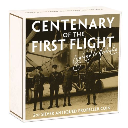 Thumbnail for 2019 2oz Silver Coin - 100th Annivesary First Flight England to Australia