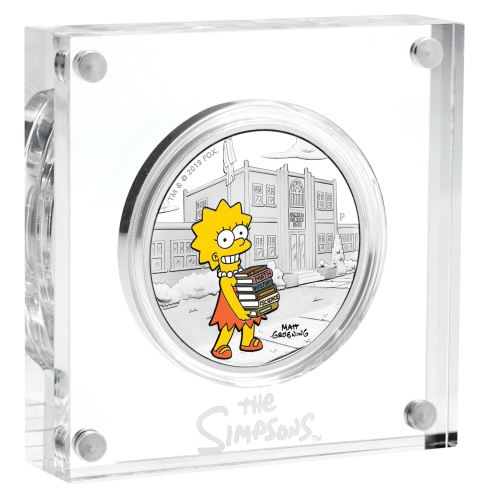 Thumbnail for 2019 1oz Silver Proof Coin - The Simpsons Lisa