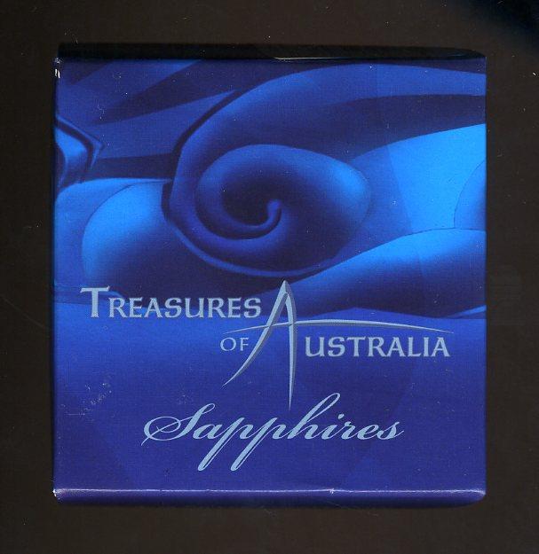 Thumbnail for 2007 Treasures of Australia 1oz Silver Locket Coin - Sapphires