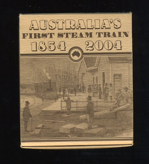 Thumbnail for 2004 Australias First Steam Train 1oz Coloured Silver Proof
