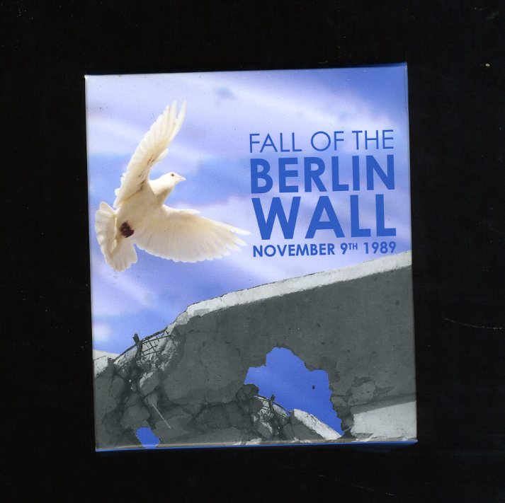 Thumbnail for 2009 Tuvalu Coloured 1oz Silver Proof - Fall of the Berlin Wall