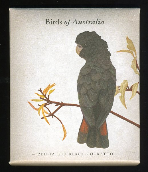 Thumbnail for 2013 Australian Half oz Coloured Silver Proof - Birds of Australia Red Tailed Black Cockatoo