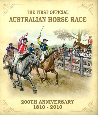 Thumbnail for 2010 Tuvalu One oz Coloured Silver Proof Coin - First Official Australian Horse Race