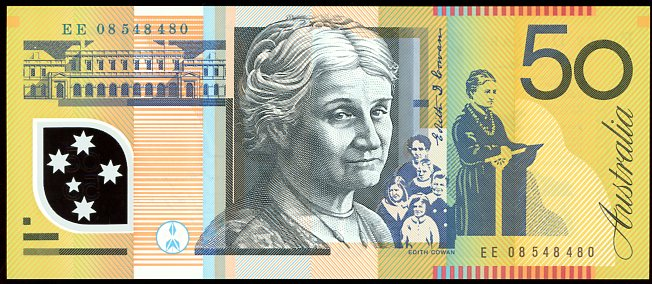Thumbnail for 2008 $50 Polymer EE08 548480 UNC