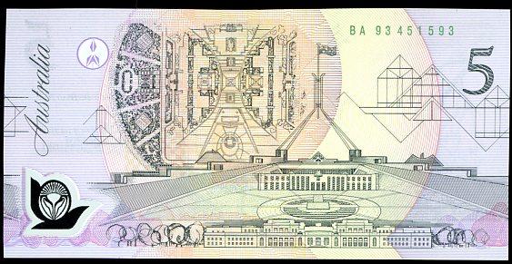 Thumbnail for 1993 $5 1st Prefix BA93 451593 UNC