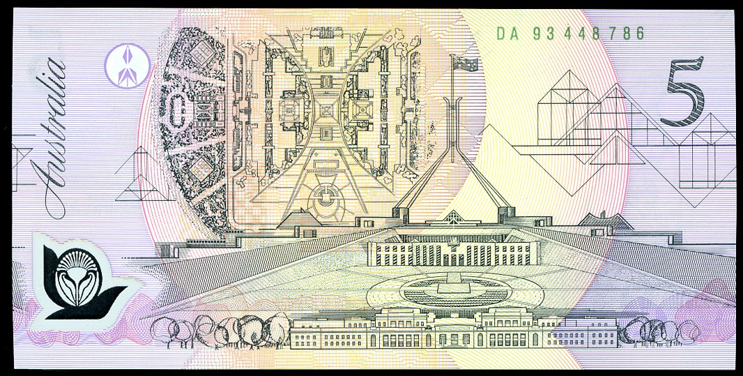 Thumbnail for 1993 $5 DA93 448786 UNC