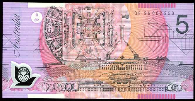 Thumbnail for 1996 $5 Uncirculated QE96 002950 UNC