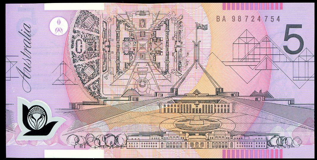 Thumbnail for 1998 $5 First Prefix BA98 724754 UNC