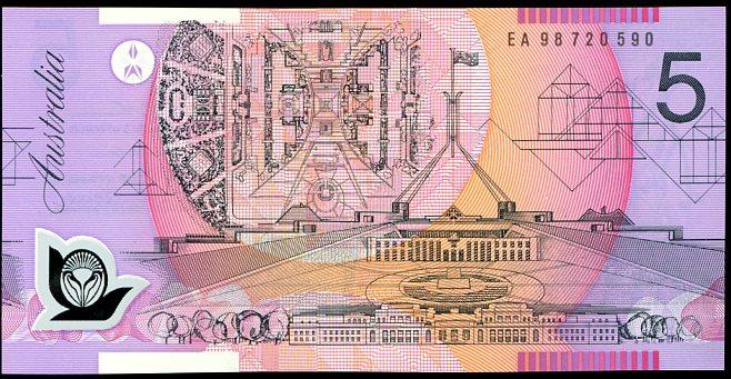 Thumbnail for 1998 $5 Last Prefix EA 98 720590 UNC