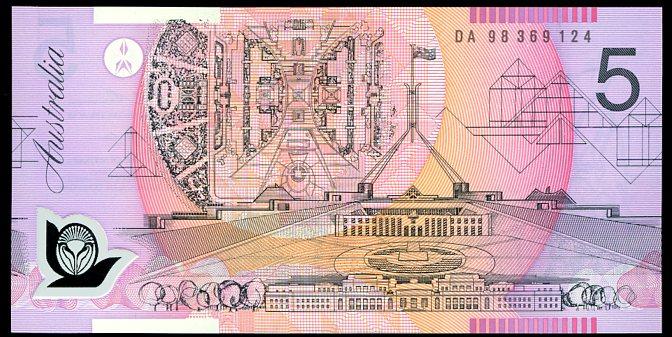 Thumbnail for 1998 $5 Uncirculated DA98 369124 UNC