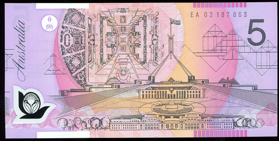 Thumbnail for 2002 $5 Last Prefix EA02 187863 UNC
