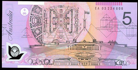 Thumbnail for 2003 $5 Last Prefix EA03 234606 UNC