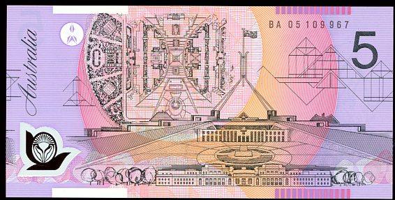 Thumbnail for 2005 $5 First Prefix BA05 109967 UNC