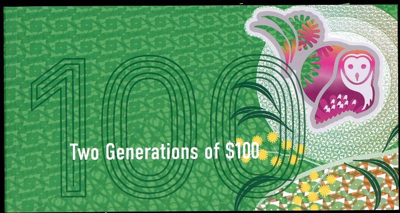 Thumbnail for 2020 Two Generations $100 Uncirculated Banknote Pair in Folder