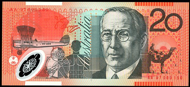 Thumbnail for 1997 $20 First Prefix Red Serials AA97 000150 UNC