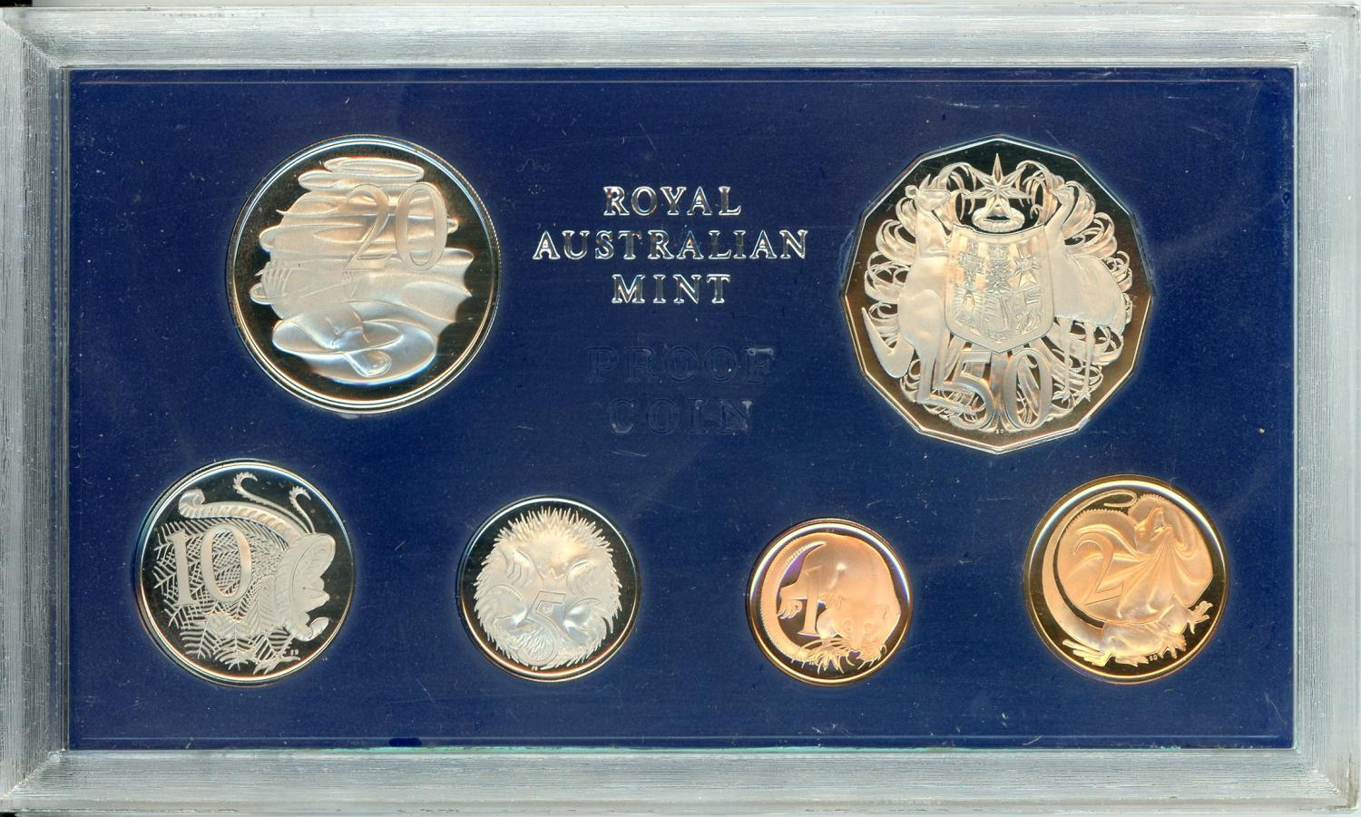 Thumbnail for 1972 Australian Proof Set - Couple of Marks on Copper Coins