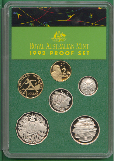 1992 Proof Set Of Coins