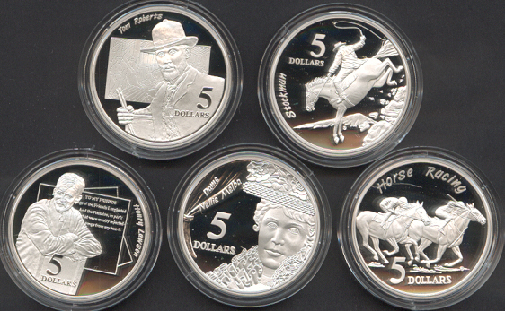 Thumbnail for 1996 Masterpieces in Silver Proof Set Shaping a National Identity