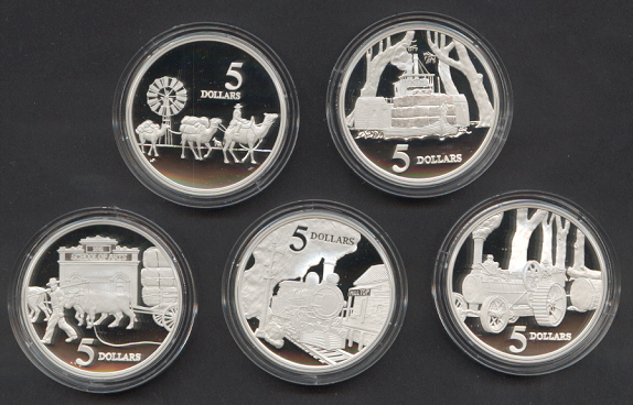 Thumbnail for 1997 Masterpieces in Silver Proof Set The Opening of the Continent