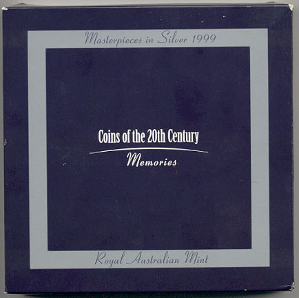 Thumbnail for 1999 Masterpieces In Silver Proof Set - Coins of the 20th Century