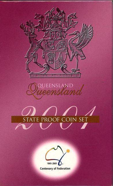 Thumbnail for 2001 Federation Three Coin Set - Queensland