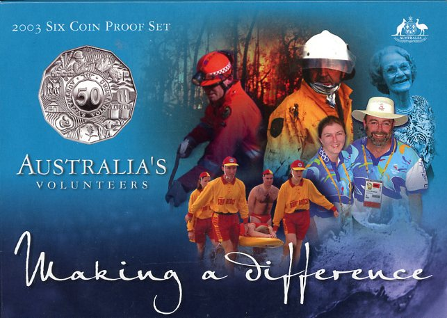 Thumbnail for 2003 Six Coin Proof Set - Australia's Volunteers