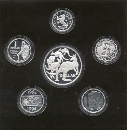 Thumbnail for 2004 Masterpieces in Silver Proof Set Twenty Years of the Australian Dollar Coin