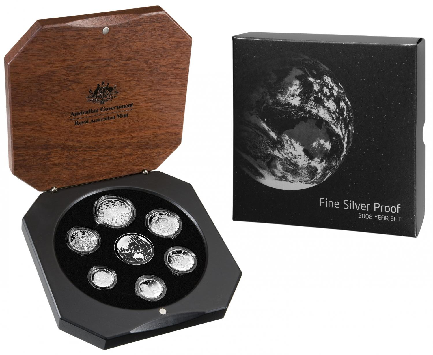 Thumbnail for 2008 Australian Fine Silver Proof Set