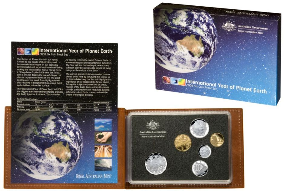 Thumbnail for 2008 Six Coin Proof Set - International Year of Planet Earth