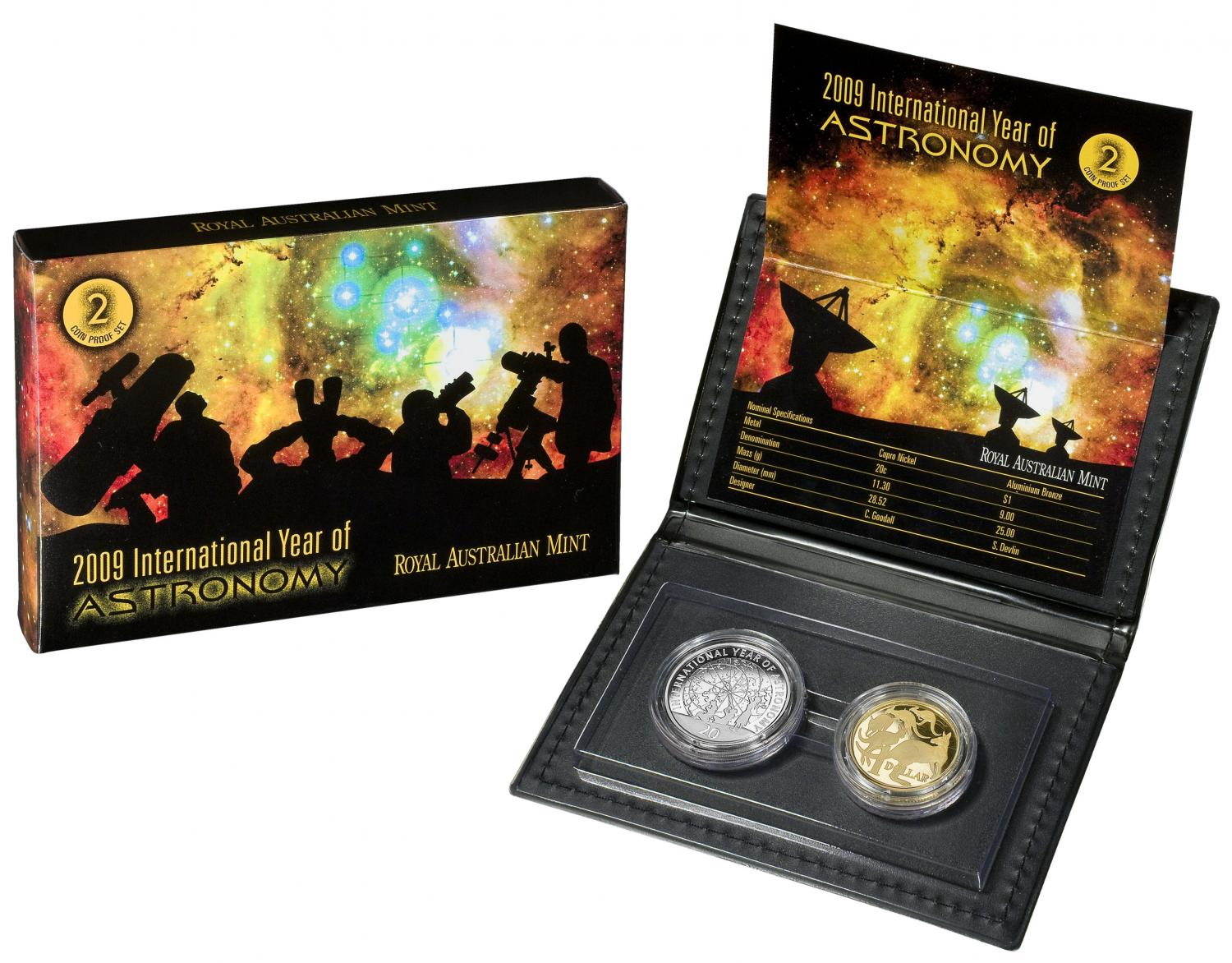 Thumbnail for 2009 International Year of Astronomy - Two Coin Proof Set