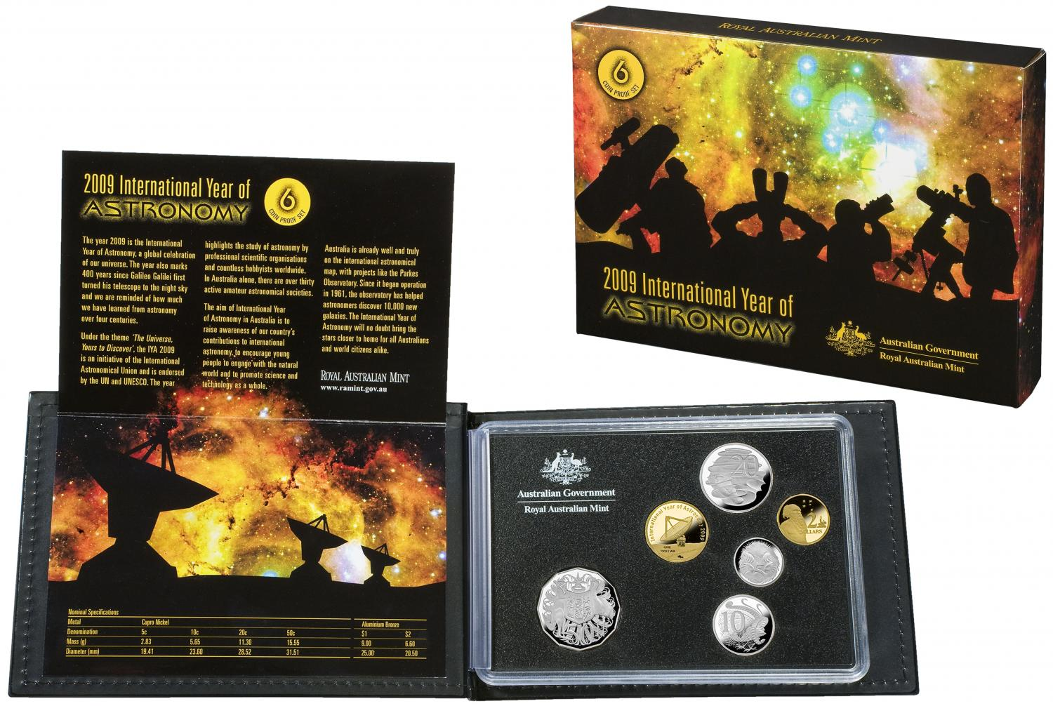 Thumbnail for 2009 International Year of Astronomy  - Six Coin Proof Set