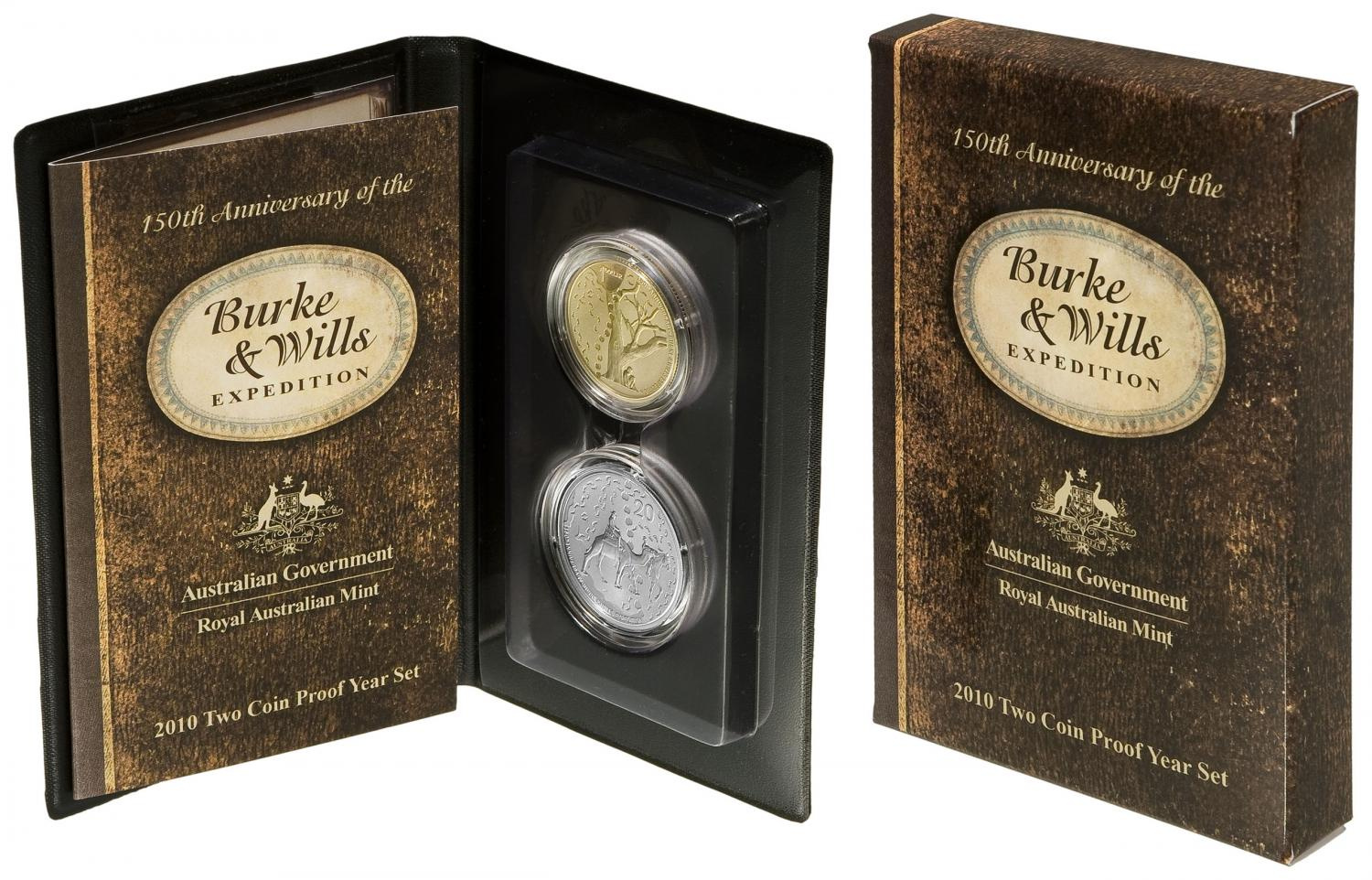 Thumbnail for 2010 Two Coin Proof Set - 150th Anniversary of the Burke & Wills Expedition