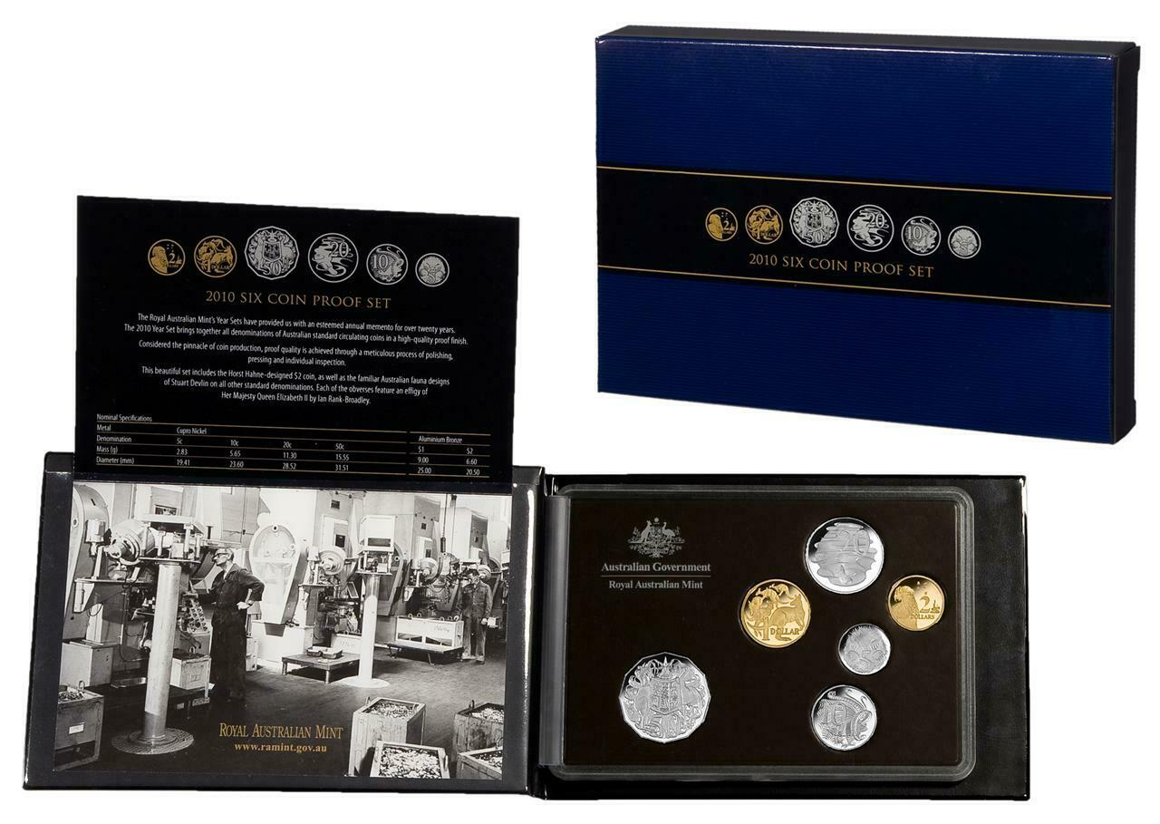 Thumbnail for 2010 Australian Six Coin Proof Set