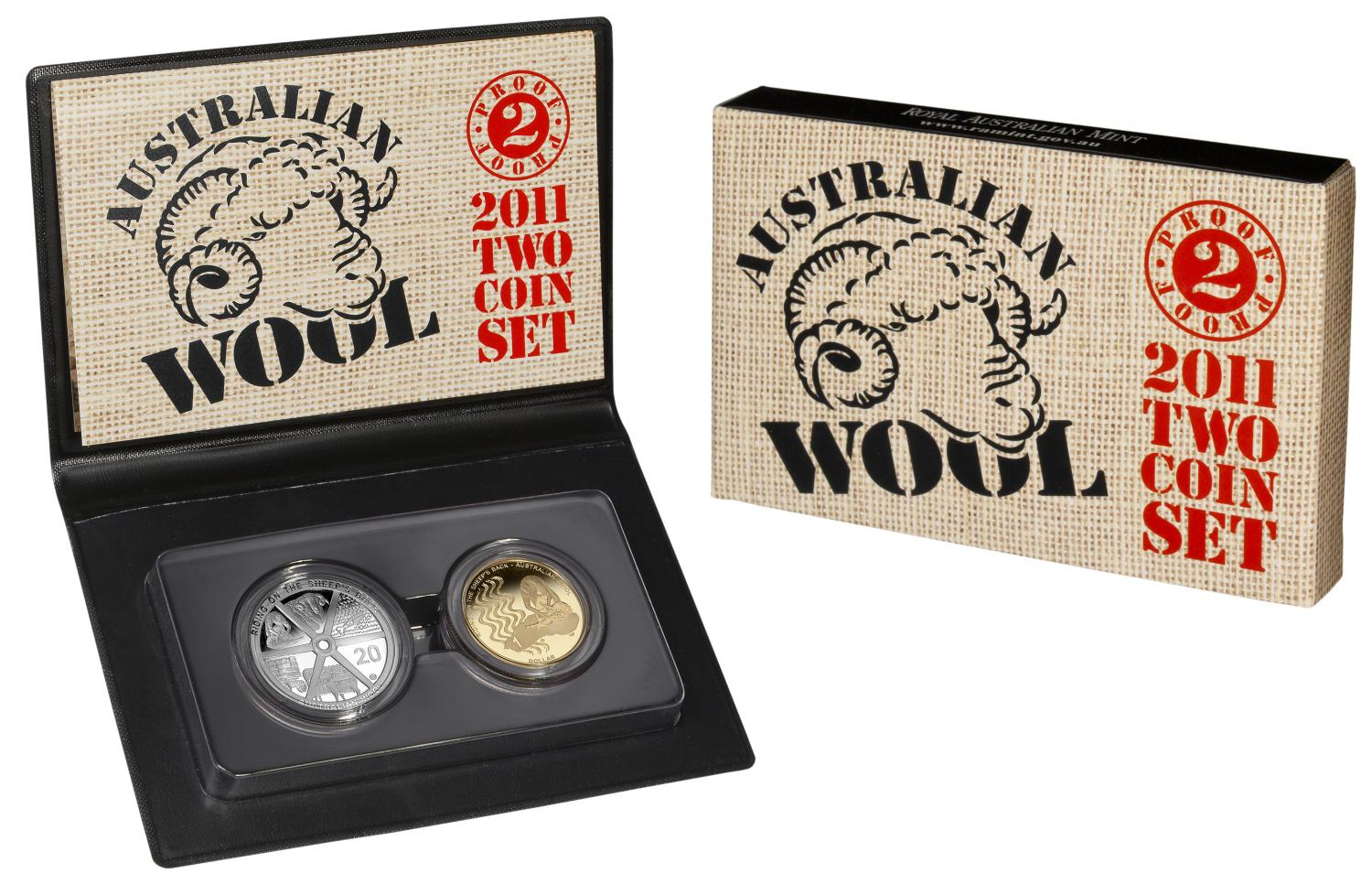 Thumbnail for 2011 Two Coin Proof Set - Australian Wool