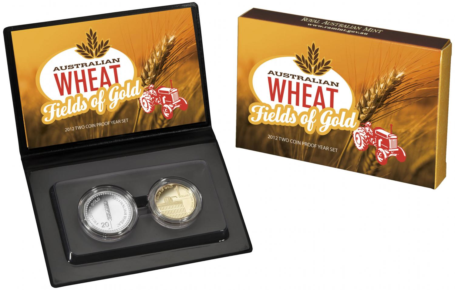 Thumbnail for 2012 Two Coin Proof Set - Australian Wheat Fields of Gold