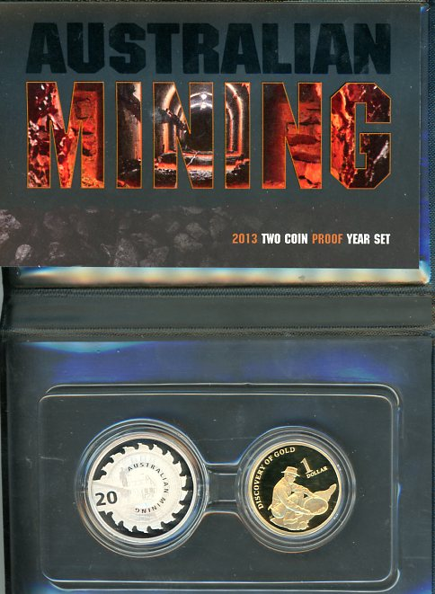 2013 Two Coin Proof Year Set Australian Mining
